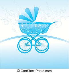 stroller - blue stroller