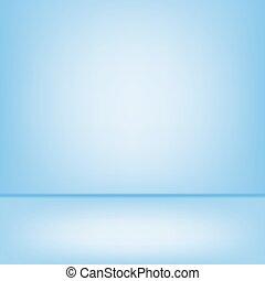 Blue studio backdrop Interior
