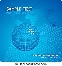 Blue stylish business template