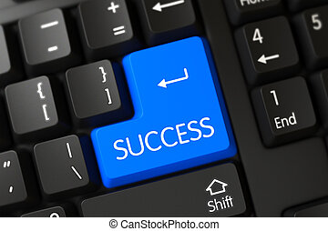 Blue Success Keypad on Keyboard.