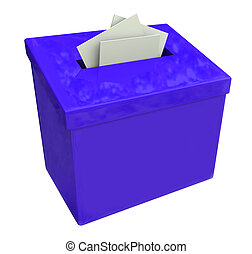 Blue Suggestion Box Submit Ideas Comments