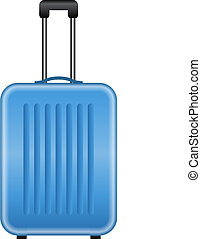 blue suitcase - Vector illustration of blue suitcase