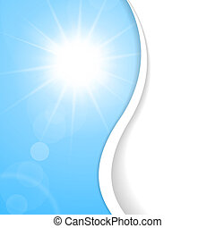 Blue Summer background with place for your content - Light...