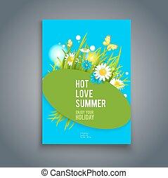 Blue summer card