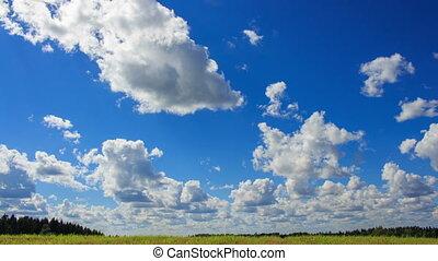 Blue Summer Clouded Sky Timelapse HD