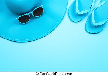 Blue summer items