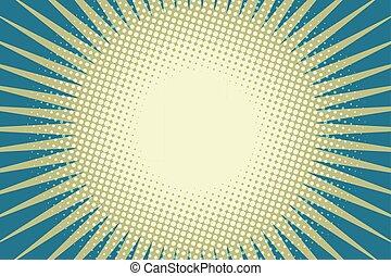 blue sun pop art background