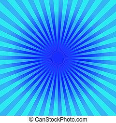 Blue Sun Sunburst Pattern