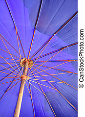 Blue sun umbrella
