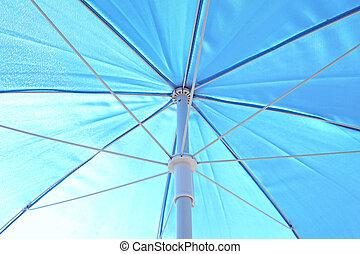 Blue sunblock umbrella