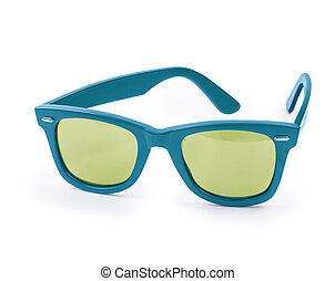 blue sunglasses isolated on a white background