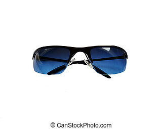 Blue sunglasses isolated on white