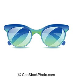 Blue sunglasses isolated on white vector