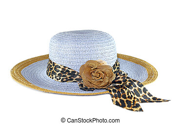 Blue sunhat isolated on white background
