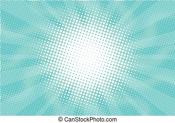 Blue Sunny haze pop art retro vector background illustration