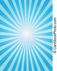 Blue sunray background - Simple background of blue sunray