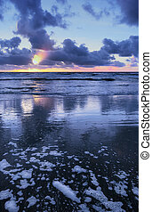 Blue sunset colors