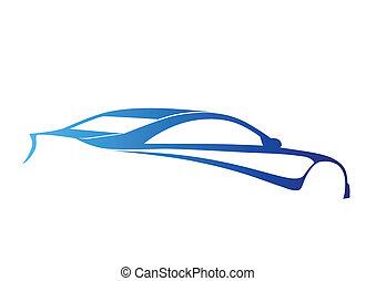 Blue super sport auto