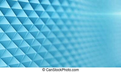 Blue surface waving 3D render. Seamless loop animation