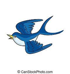 blue swallow bird