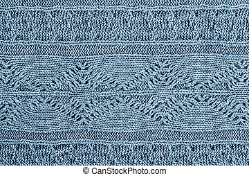 Blue Sweater Background - Knit blue sweater texture...
