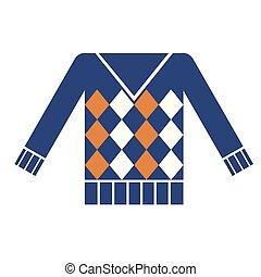 Blue sweater flat illustration
