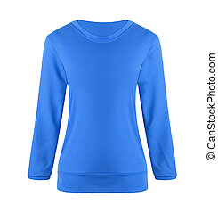 blue sweater isolated on white background