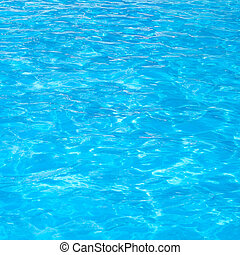 Blue swimming pool rippled water detail