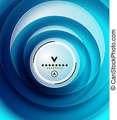 Blue swirl abstract modern design template