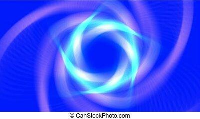 blue swirl laser light,tunnel