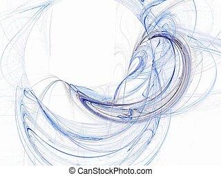 blue swirl - abstract blue swirl background