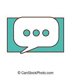 Blue symbol bubble button icon