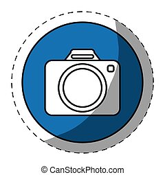 Blue symbol camara button image