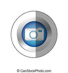 blue symbol camera icon