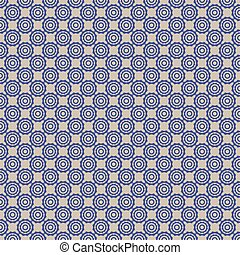 blue symbol dot pattern