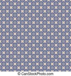 blue symbol dot pattern