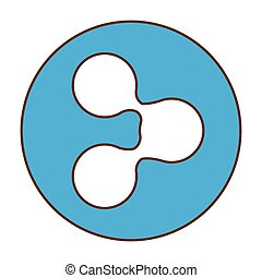 Blue symbol share button image