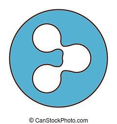 Blue symbol share button image