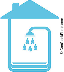 symbol with home and shower