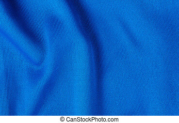 Blue synthetic fabric texture with copy space