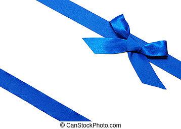 blue szalag, és, íj