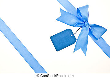 blue szalag, és, íj, noha, címke
