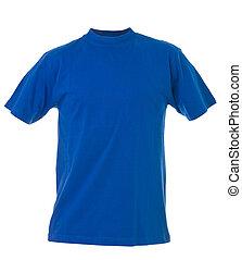 Blue T-shirt isolated on white background