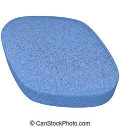 blue tablet isolated on white 3d illustration