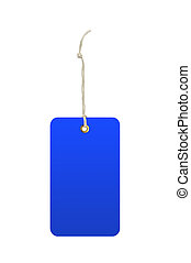 Blue Tag (label) Isolated on white background