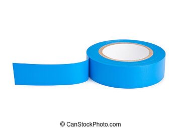 Blue tape - Blue Adhesive tape on the white background