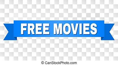 Blue Tape with FREE MOVIES Title - FREE MOVIES text on a ...
