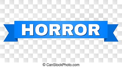 Blue Tape with HORROR Title