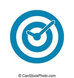 Blue target conceptual clock icon