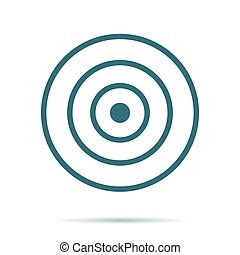 Blue Target icon isolated on background. Modern flat pictogram, business, marketing, internet concep